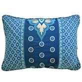 Moonlit Shadows Embroidered Pillow Blue Rectangle