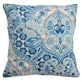 Moonlit Shadows Quilted Pillow Blue 20 Square