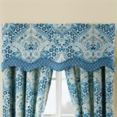 Moonlit Shadows Scalloped Valance Blue 52 x 18