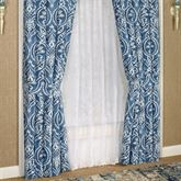 Allegra Wide Tailored Curtain Pair Midnight 100 x 84