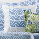 Aurora Tailored Pillow Medium Blue 18 Square
