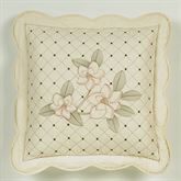 Southern Belle Scalloped Quilted Pillow Butter 18 Square