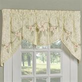 Southern Belle 3 Piece Swag Valance Set Butter 64 x 28