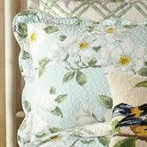 Blooming Magnolia Quilted Sham Spring Green Standard