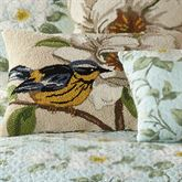 Blooming Magnolia Hooked Bird Pillow Pearl Rectangle