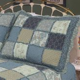 Chelsea Patchwork Quilted Sham Pear Standard