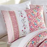 Bright Blooms Quilted Sham Multi Jewel Standard