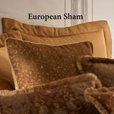 China Art Flanged Tailored Sham Dark Gold European
