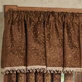 China Art Brown Tailored Valance 52 x 18