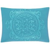 Farah Embroidered Tailored Pillow Multi Bright Rectangle