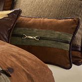 Highland Lodge Piped Buckle Pillow Saddle Brown Rectangle