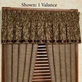 Highland Lodge Tailored Valance Sage 84 x 18