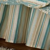 Natural Shells Gathered Bedskirt Aqua