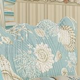 Natural Shells Quilted Sham Aqua Standard