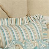 Natural Shells Tailored European Sham Aqua European