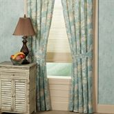 Natural Shells Curtain Pair Aqua 80 x 84