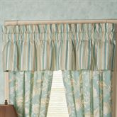 Natural Shells Gathered Valance Aqua 80 x 15