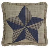 Vincent Ruffled Pillow Multi Warm 18 Square
