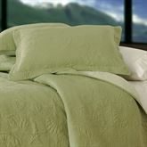 Shell Matelasse Quilted Pillow  14 Square
