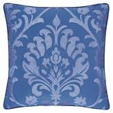 Panama Embroidered Pillow Blue 18 Square