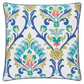 Panama Piped Pillow Blue 20 Square