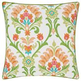 Panama Piped Pillow Green 20 Square