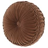 Serenity Gusseted Tufted Pillow Auburn Round