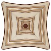 Serenity Striped Tufted Pillow Light Gold 18 Square