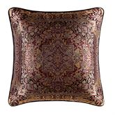 Bridgeport Red Jacquard Piped Pillow Burgundy 18 Square