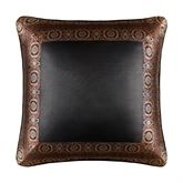 Bridgeport Red Framed Piped Pillow Burgundy 20 Square