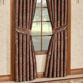 Bridgeport Red Wide Tailored Curtain Pair Burgundy 100 x 84