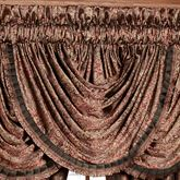 Bridgeport Red Waterfall Valance Burgundy 49 x 33