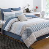 Chambray Stripe Comforter Set Multi Cool