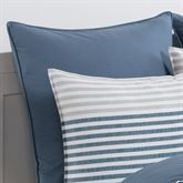 Chambray Piped European Pillow Multi Cool
