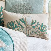 Saltwater Serenity Octopus Pillow Ivory Rectangle