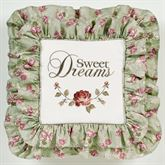 Cordial Garden Sweet Dreams Embroidered Pillow Celadon 20 Square