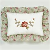 Cordial Garden Embroidered Pillow Celadon Rectangle