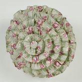 Cordial Garden Ruffled Pillow Celadon Round