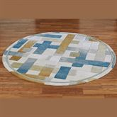 Urban Intersection Round Rug Light Cream 56 Round