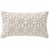 Windham Embroidered Pillow Ivory Rectangle