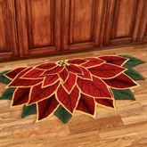 Elegant Poinsettia Slice Rug Dark Red 60 x 30