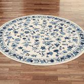 Bonnie Blue Round Rug Ivory/Blue 76 Round