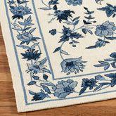 Bonnie Blue Rug Runner Ivory/Blue 2 x 8