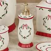Holly Wreath Lotion Soap Dispenser Eggshell