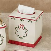 Holly Wreath Tissue Cover Eggshell
