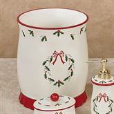 Holly Wreath Wastebasket Eggshell