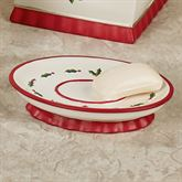Holly Wreath Soap Dish Eggshell