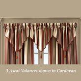 Shelburn Stripe Ascot Valance 40 x 21