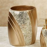 Glamour Wastebasket Champagne Gold