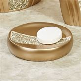 Glamour Soap Dish Champagne Gold